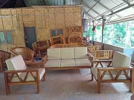 Teak wooden sofa setty
