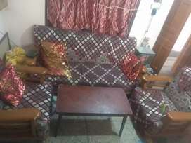 Wooden durable SOFA 3+1+1 With center table