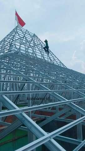 Rangka atap baja ringan terpasang termurah