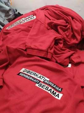 Kaos Polo Polos untuk Seragam, Harga Murah Siap Bordir