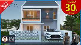 15mnt Kota Wisata Cibubur Rumah 2 Lantai di Perumahan Cileungsi Bogor