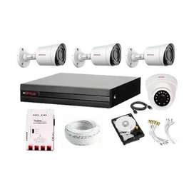 CP Plus Full HD 4Ch DVR Full CCTV Security Camera Kit