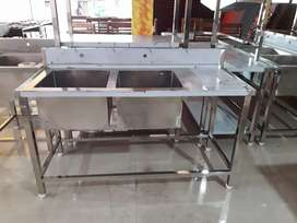 2 sink stainless steel