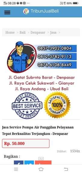 Service Pompa Air Garansi 3 Tahun Murah
