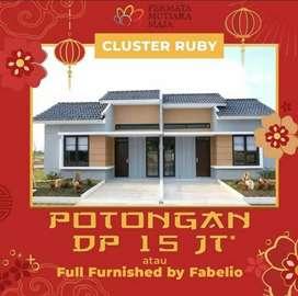 (YD) Hunian Nyaman D Dlm Cluster Bonus Full Furniture Kapan Lagi Coba