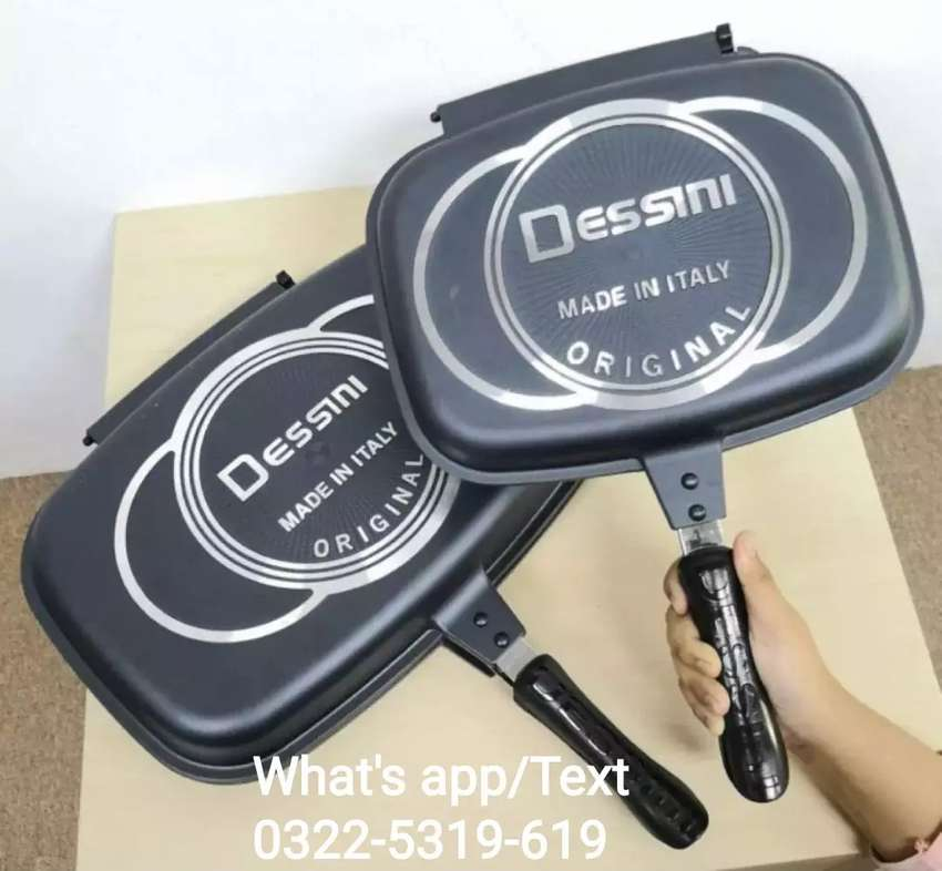 Double Sided Grill Pan A Product of Italy in Large 36CM 0
