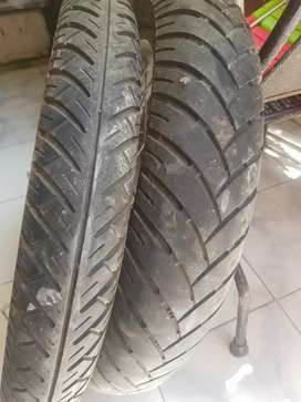 Royal enfeild 500 cc rear and front tyre with rims