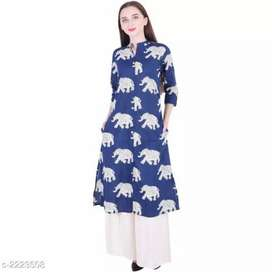 Cotton printed kurti with palazo