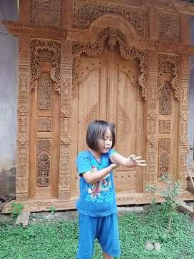Cuci Gudang Pintu Gebyok Style Jawa Dan Bali 2 2.5 dan 3 meter bahak