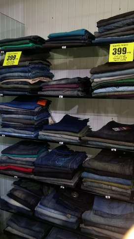 Single pc available  Jeans varieties  full cut range .