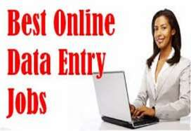 Data entry work simple English typing at home