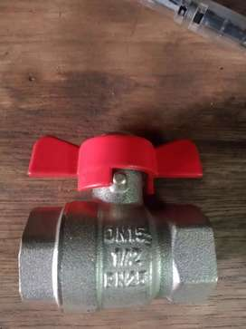 "Jual ball Valve kupu kupu ½"" in"