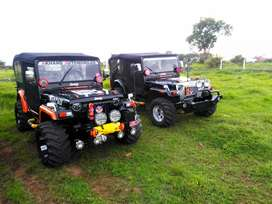 Newly modified hunter modified open jeep thar in Pune