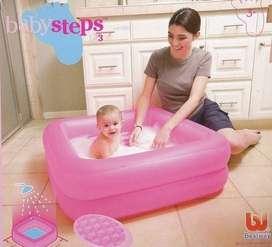 Kolam Renang Steps Kotak Pink + Tambalan Lem Baby