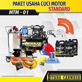 Paket Usaha Cuci Motor Standar Tanpa Hidrolik (MTM-01) Tanah Alas