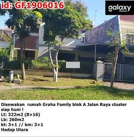 Disewakan rumah Graha Famili Family blok A Jalan Raya cluster siap hun