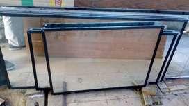 Cermin 5mm bingkai aluminium