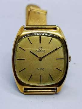Jam Tangan Omega Deville Gold Plated 20 Micron Manual Winding Cal 652
