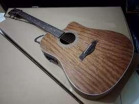 Gitar Cowboy akustik elektrik jumbo