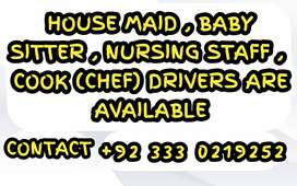 We Are  Provide Nannies, Maid, Nursing staff, Chefs, Driver, Attendant