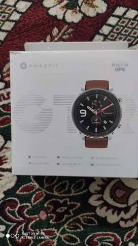 Amazfit GTR 47mm smart watch Stainless steel with screen protector