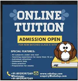 Online tutoring from class 6 to 10th std.