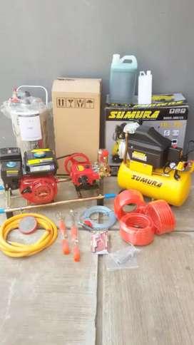 Paket komplit usaha steam motor/mobil