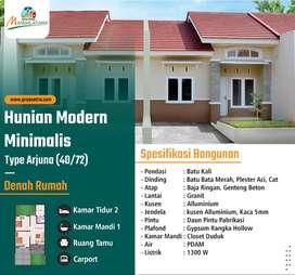 Hunian Dengan Kwalitas Bangunan Yang Prima Berkonsep Modern Minimalis