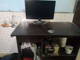 Computer screen and cpu and ups