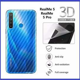 Garskin HP Karbon Backdoor Anti Jamur Realme 5 Pro