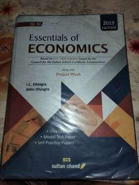 Class XII  economics book (essential  of eco)