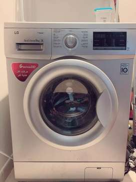 LG Inverter Front Load 8kg washing machine 6 month warrenty