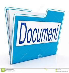 Hiring for documents collection field work