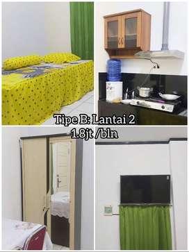 KOST + Dapur Mini Lengkap JL.Bawakaraeng / Veteran. Kos Kosan Makassar