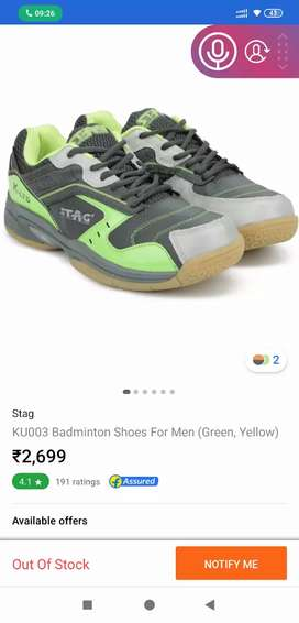 Stag Brand Badminton Shoe @500 only