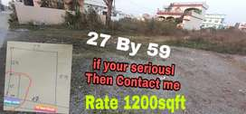 27BY 59 Plot available For Sale Vikasnagar Road Babugarh Adarsh ColonY