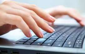 Typing work at home