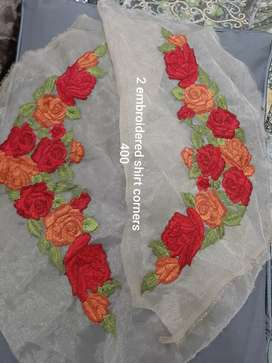 Embroidered bunches