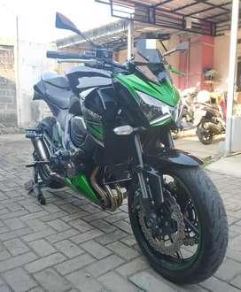 Moge Kawasaki Z800 Hijau 2014 mint condition.