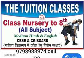 I am looking students for class prep to class 8