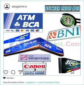 Stiker Neon Box