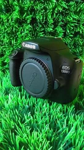 Canon eos 1300D +lens kit 18-55 mm dusbox dan tas