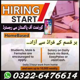 We are Hiring Boys and Girls Staff For Office Base Online Work