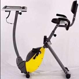 alat fitnes sepeda statis static x bike laptop sandaran dan hand pulse