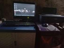 Set komputer bonus printer