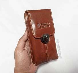 dompet tempat hp pinggang kulit asli