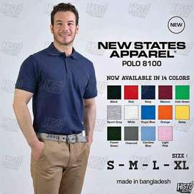 Kaos Kerah Polo Shirt Casual Aneka Warna Polos