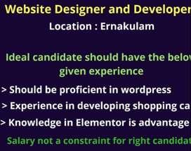 web designer - Developer