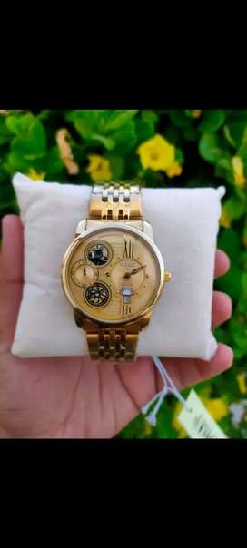 Citizen day nd date working golden chain or 2ton chain for men's
