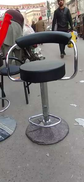 Kitchen bar chair made in China leather seat SS Steel base